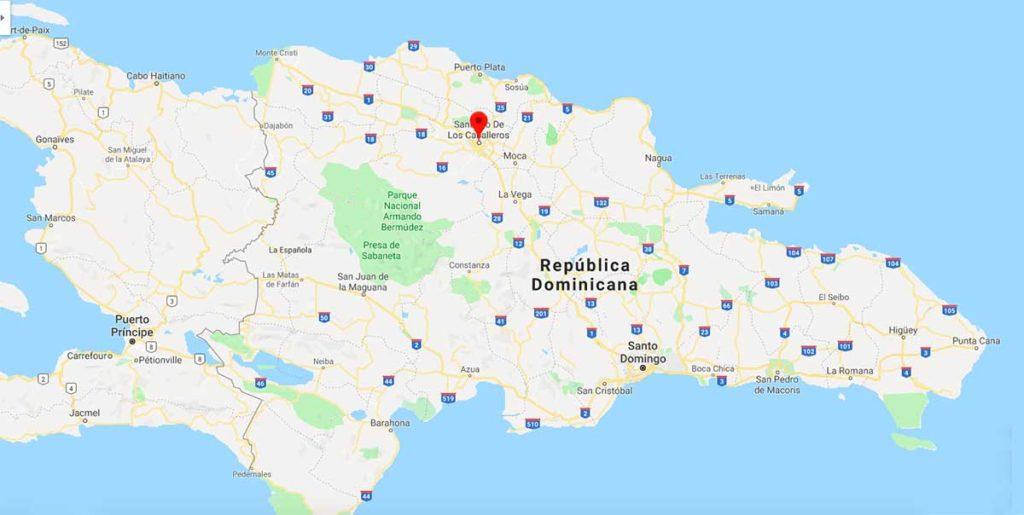 Santiago de los Caballeros mapa